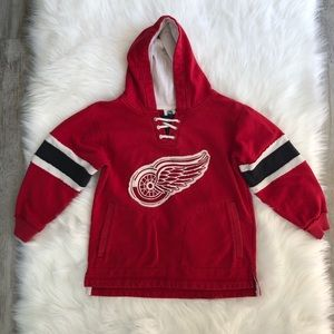 CCM NHL Detroit Red Wings laced pullover hoodie
